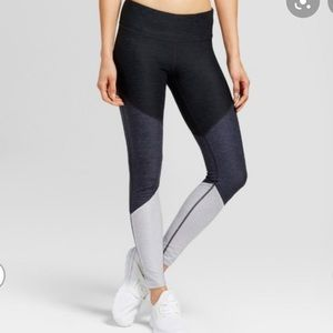champion 3 block color blue leggings